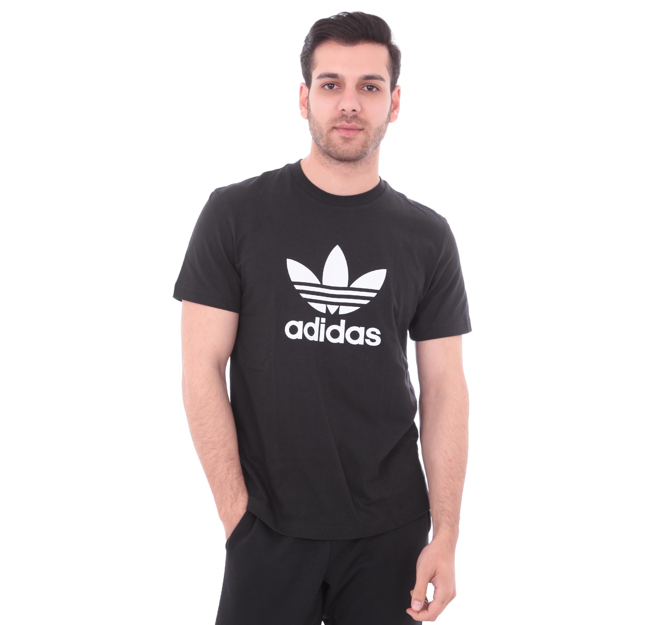 adidas Trefoıl T-Shırt Erkek T-Shirt Siyah