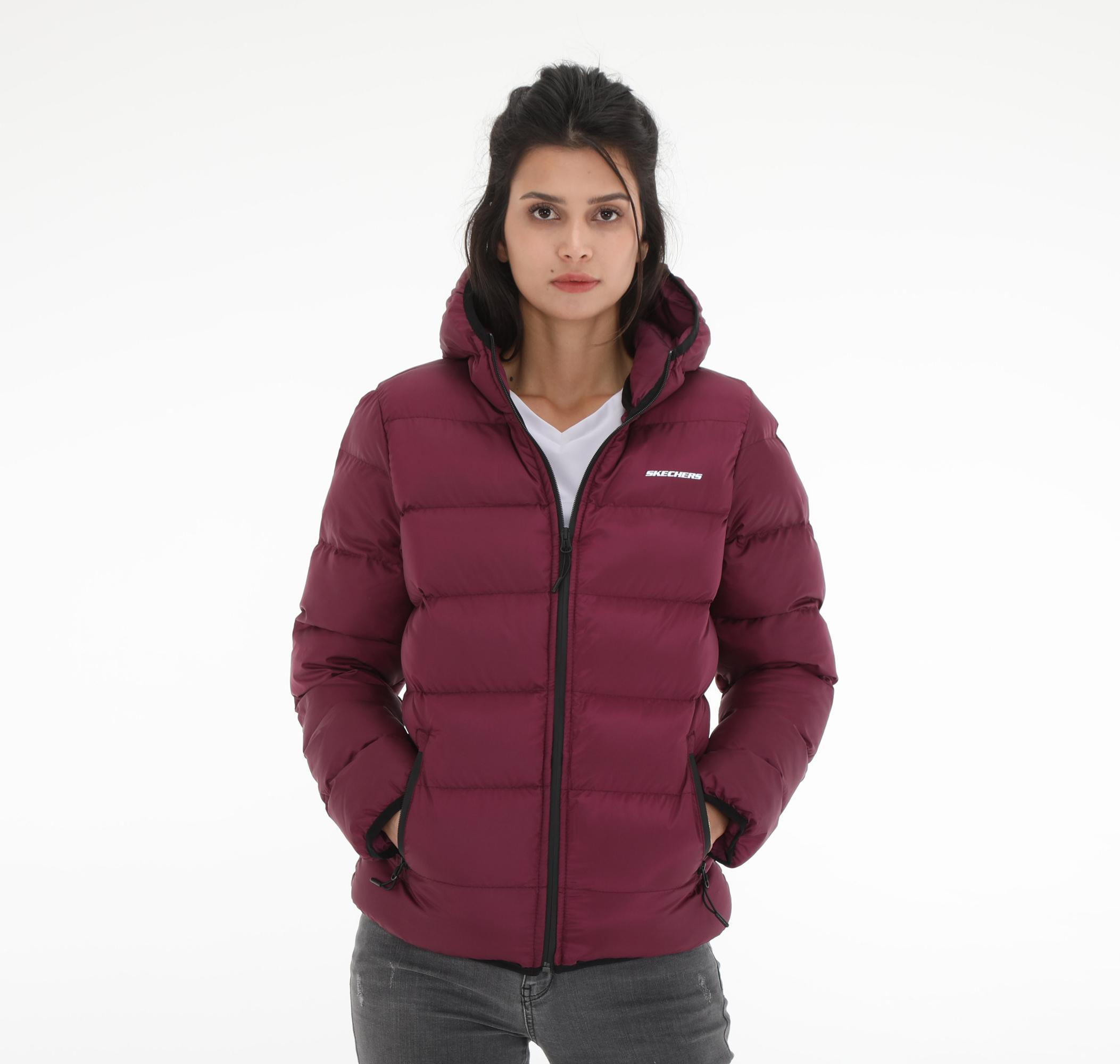 W Mid Filled Jacket Kadın Mont Mor