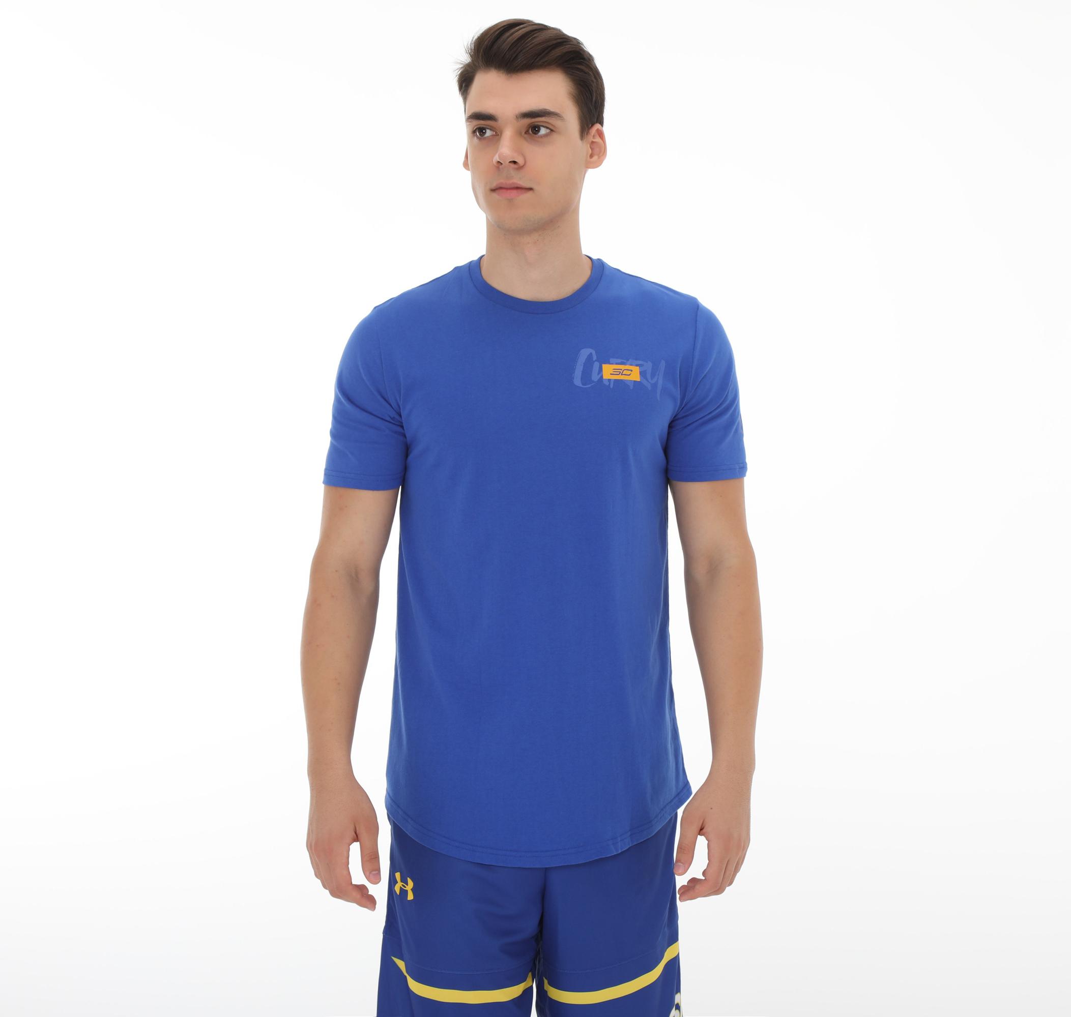 Sc30 Stack Logo Ss Tee-Blu Erkek T-Shirt
