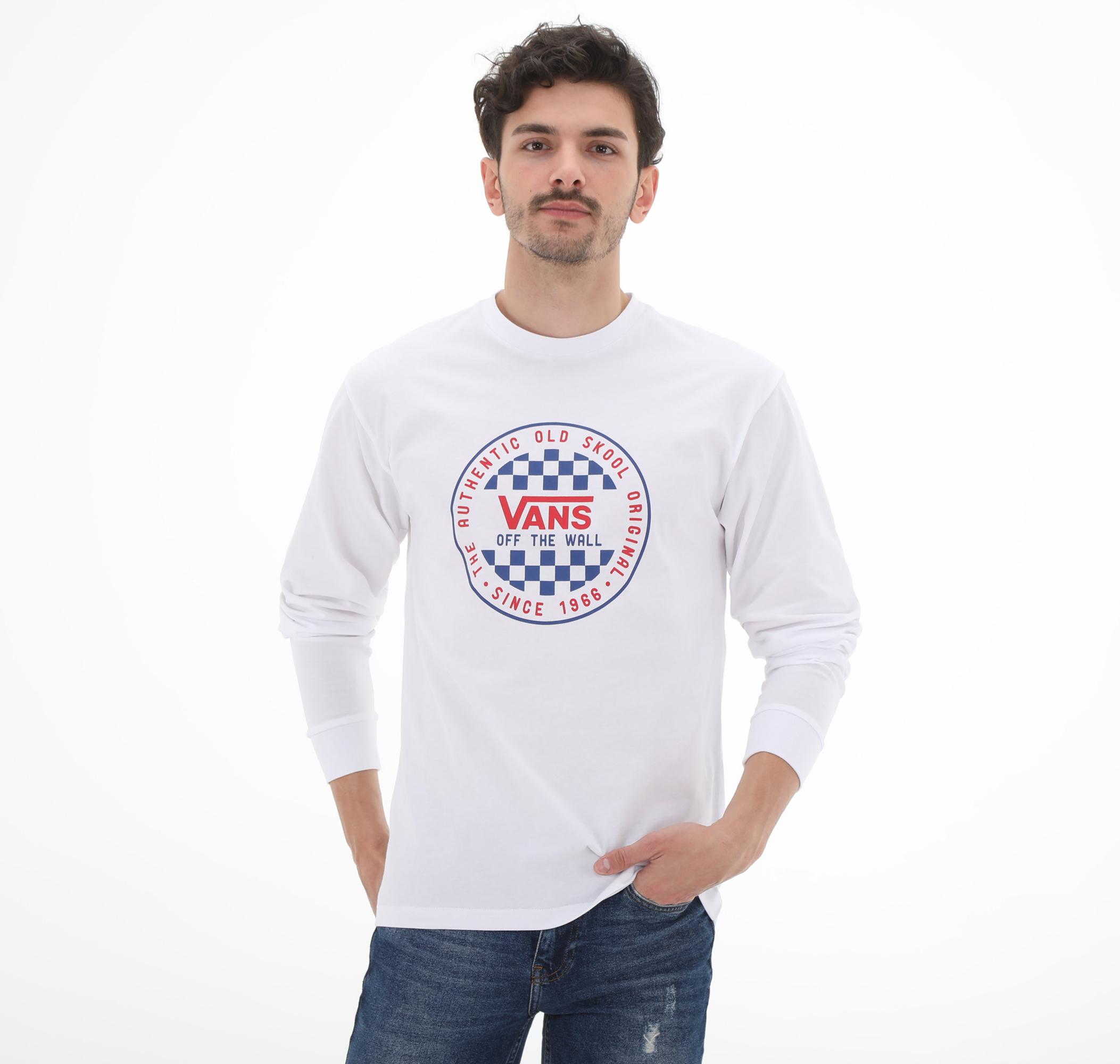 Og Checker Ls Erkek Sweatshirt Beyaz