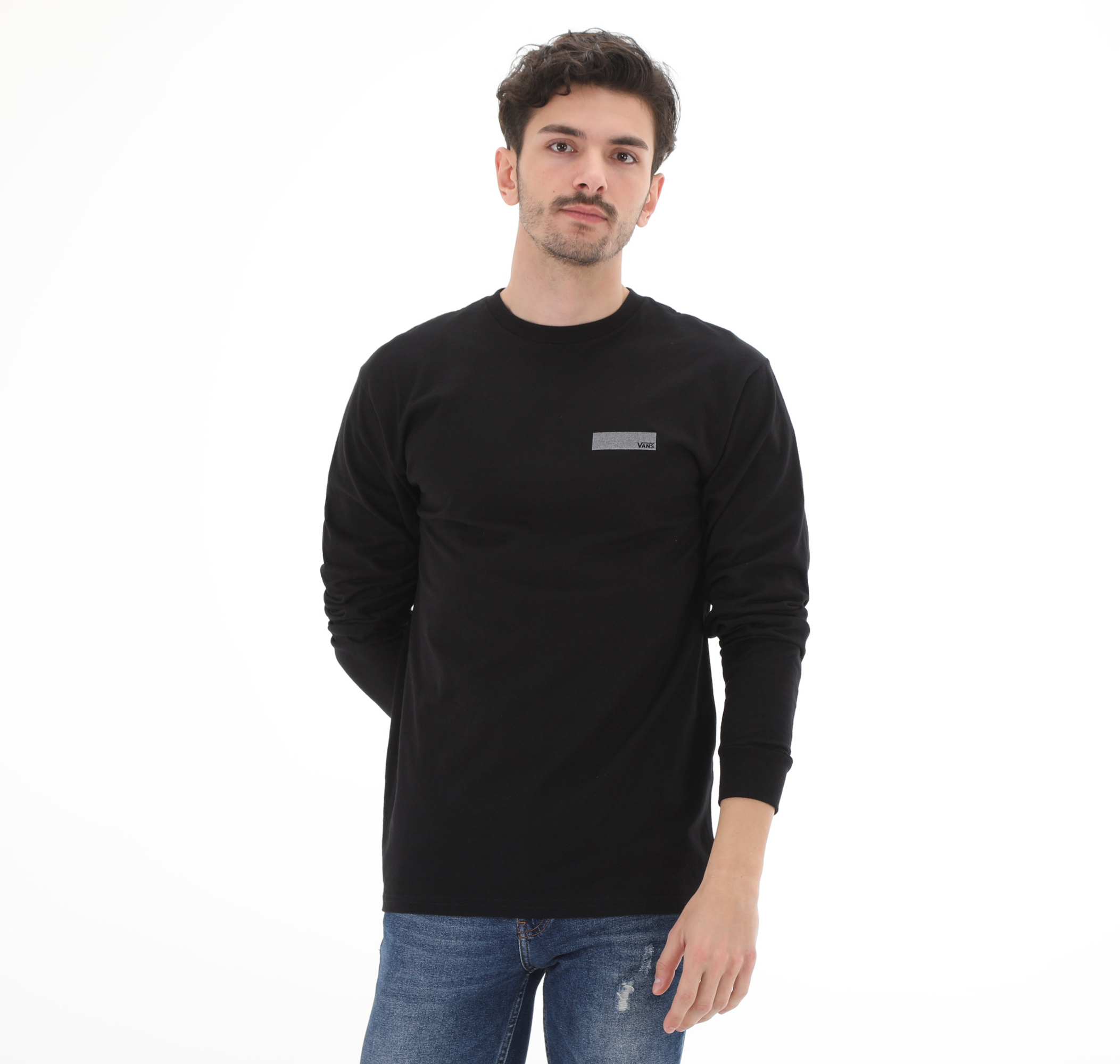 Pro Skate Reflectıve Ls Erkek Sweatshirt Siyah